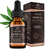 5000mg Pure Hemp Oil Extract - Anxiety & Stress Relief and Sleep Aid - 100% Organic, Vegan, GMO-Free, Natural