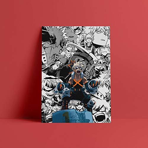 Katsuki Bakugo Boku no Hero Academia 50x70cm Frameless,Lienzo Decorativo Abstract impresión de Fotos de imágenes sobre Lienzo Arte de la Pared para Decor
