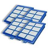 Wessper 4 x (Pieza) Filtro para Hepa Allergie Filtro para Philips FC 9116, FC 9122, FC 9131, Universe FC 9008, FC 9022 como aef13 W, AEF 13 W, H13