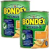 Bondex Lärchen Intensiv Öl, 1,5 Liter - sprühbares Schutz- und Pflegeöl für Innen und Aussen, Gartenmöbel und Terrassenöl