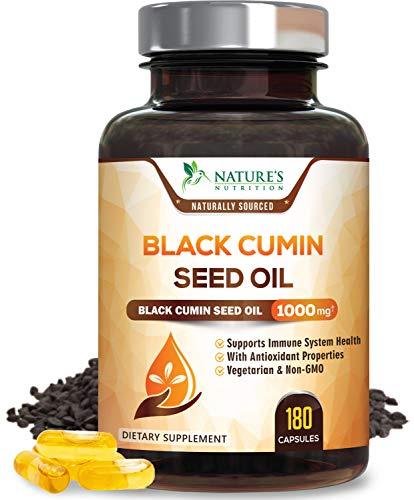 Black Seed Oil Capsules 1000mg, Premium Nigella Sativa Black Cumin...