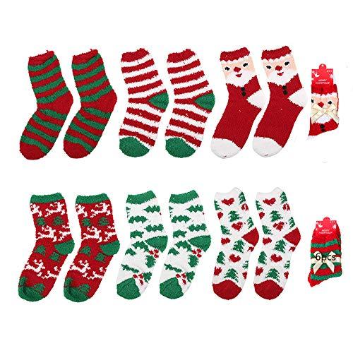TDCQ Calcetines de Navidad,Calcetines Navideños Antideslizantes,Dibujos Animados de Calcetín de Navidad,Navidad Calcetines,Calcetines Navidad Mujer,Calcetines de Navidad Calcetines de Piso