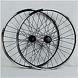 UPPVTE Rueda de Bicicleta 26/27.5/29 Pulgadas, Freno V aleación de Aluminio de Doble Pared MTB Freno de Disco de Borde de Rueda Híbrido/Rueda Libre 7 8 9 10 Velocidad Bicicleta Ciclismo