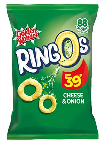 Golden Wonder Cheese and Onion Ringos 18 g - 24 Count
