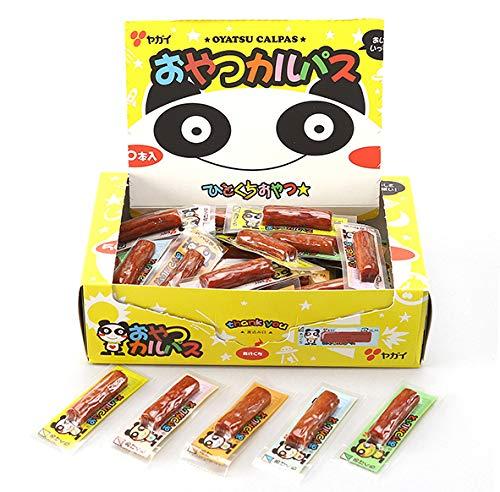 おやつカルパス 50個 おやつカルパスカレー味 50個 2種類の味 100個 駄菓子詰め合わせセット