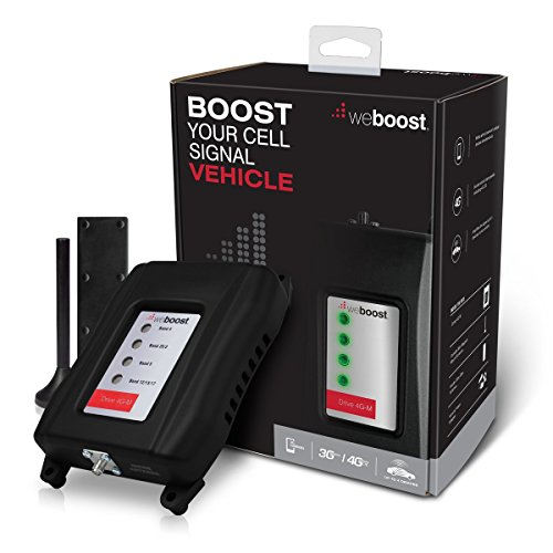 weBoost Drive 4G-M (470108)Vehicle Cell Phone Signal Booster 4G LTE - Cellular Signal Booster Amplifier for Car & Truck - Verizon, AT&T, T-Mobile, Sprint - Enhances 4G LTE Cell Phone Signals