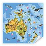 Postereck - 2472 - Landkarte, Australien Kinder Tiere