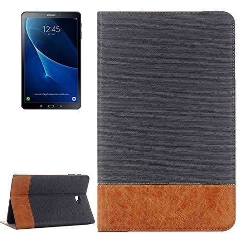 JIANGHONGYAN For Samsung Galaxy Tab A 10.1 / T580 Funda de Cuero con Textura Cruzada Horizontal con Soporte y Ranuras for Tarjetas y Billetera (Color : Grey)