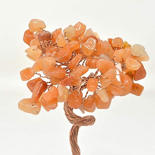 Crystal Money Tree Natuurlijke Kristal Bonsai Sculptuur Veel Geluk Decoratie W Rode String Armband Onyx