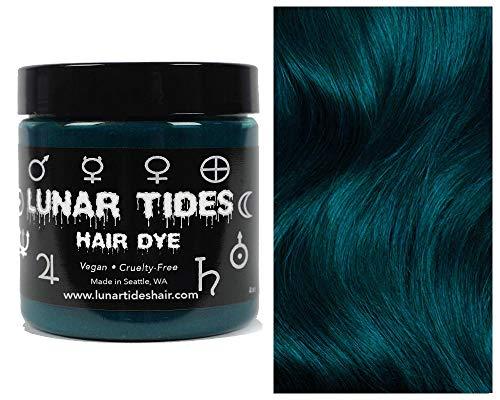 Lunar Tides Hair Dye - Cerulean Sea Dark Teal Semi-Permanent Vegan Hair Color (4 fl oz / 118 ml)