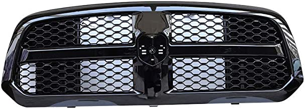 ORB Glossy Black Grille Mesh For Dodge Ram 1500 2013-2017 Honeycomb Grill ABS Bumper