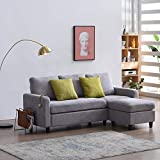 Cherry Tree Furniture Campbell 3-Seater Sofa with Reversible Chaise (Light Grey)