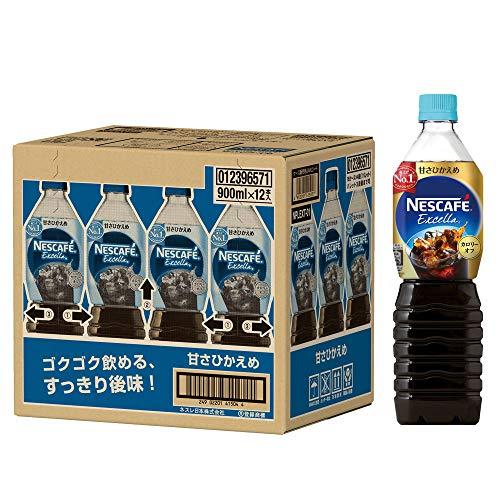 ネスカフェ エクセラ ボトルコーヒー 甘さひかえめ 900ml×1...