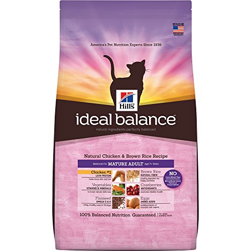 Hill'S Ideal Balance Senior Natural Cat Food, Mature Adult 7+ Chicken...