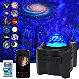 Star Projector, WANRAYW 12 in 1 Nebula Night Lights with Remote, Galaxy Projector with Bluetooth Speaker, Mood lamp for Kids and Adults Bedroom/Game Rooms/Party/Home Ambiance Decoration