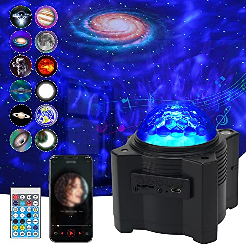 Star Projector, WANRAYW 12 in 1 Nebula Night Lights with Remote, Galaxy Projection with Bluetooth...
