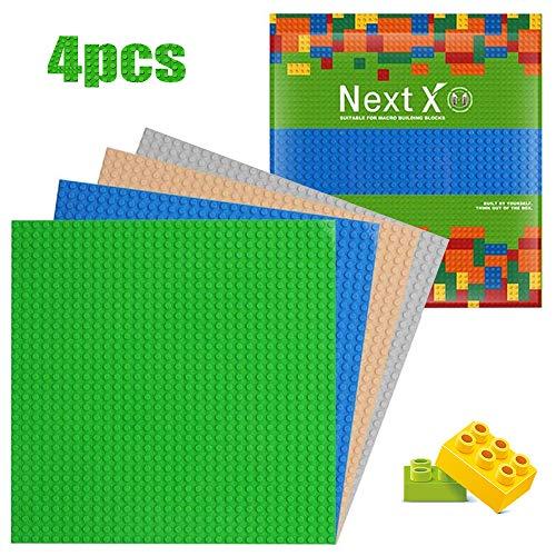 NextX 4 Piezas de Base Plancha para Classic Construir Game