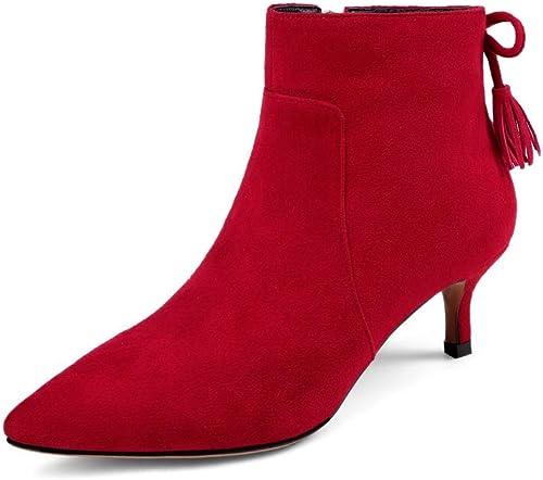 AN DKV02976, Sandales Compensées Femme - Rouge - - rouge, 36.5  bienvenue pour acheter