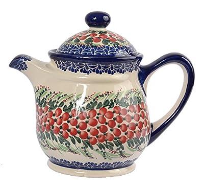traditionnel polonais poterie, fabriqué à la main en céramique Théière 9tasses avec couvercle (1500ml), H.601