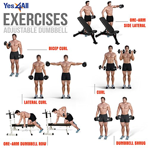 Product Image 7: Yes4All Adjustable Dumbbells – 52.5 lb Dumbbell Weights (Single)
