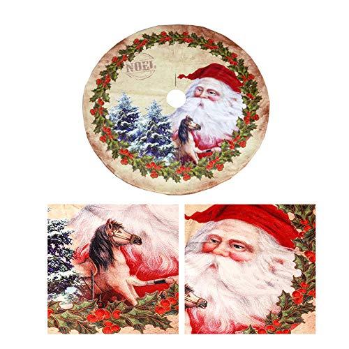 DevileLover - Falda para árbol de Navidad de Franela, decoración, Tela no Tejida, Redonda, para decoración de árboles de Navidad, para Fiestas, Vacaciones, Accesorios para el hogar, 120 cm