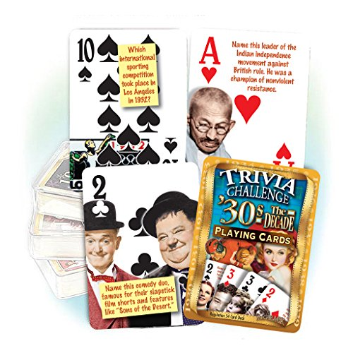 1930's Decade Trivia Playing Cards
