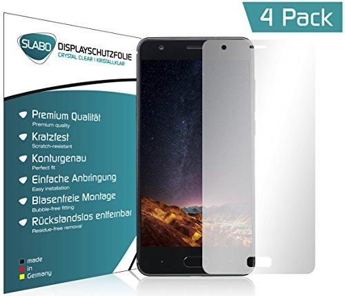 Slabo 4 x Bildschirmschutzfolie für DOOGEE X20 Bildschirmfolie Schutzfolie Folie Zubehör Crystal Clear KLAR - unsichtbar Made IN Germany