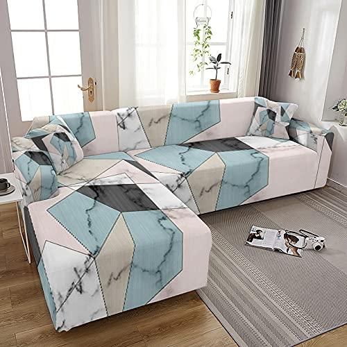 MKQB Cubierta de sofá elástica elástica con impresión para Sala de Estar, Cubierta de sofá Modular de Esquina de Sala de Estar, Cubierta de sofá de protección para Mascotas NO.4 M (145-185cm