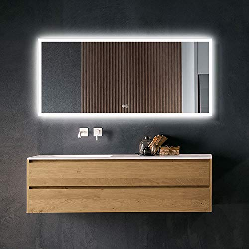 Dimmable LED Bathroom Mirror with Antifog