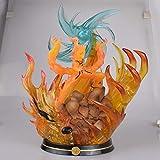 SDFDSSR Naruto Anime Doll Uchiha Itachi Sasuke Susano Omen Flame Versión Escultura Estatua Figura de Juguete Decoración Modelo Figura 21.5cm de Altura