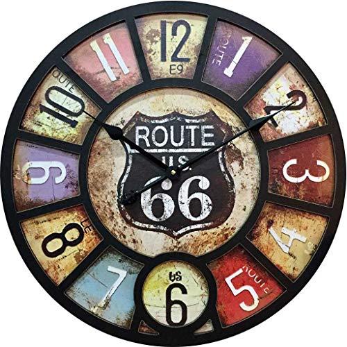 Stille Wanduhr/Digitale Wanduhr, dekorative Uhr im Vintage-Industriestil, geeignet für Wohnzimmer, Schlafzimmer, Bar