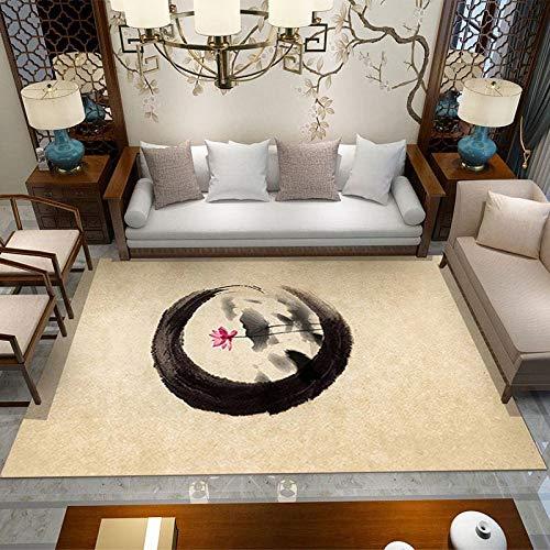 VitaLity Teppich Wohnzimmer - Rechteckiger Blumenmuster-Retro-Teppich für Küche und Balkon,Teppich Unterlagen rutschfest 200X300cm