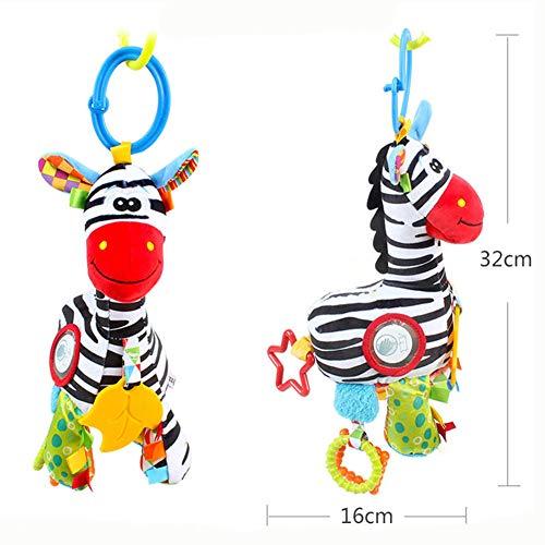 EDtara Geschenke für Vatertag,Liebhaber,Jungen,Kinderwagen,Spielzeug,Bett hängen Spielzeug,Baby-Autositz-Spielzeug,Krippe Rassel hängen Spieluhr Bell Kinderwagen Anhänger Zebra