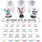 DND Condition Markers Rings 85 Pcs Status Effects Tools in 26 Conditions & Colors Dungeon and Dragon Game Accessories for RPG Tabletop Gaming