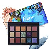 UCANBE BELLE CHARMCODE 15 Color Eyeshadow Makeup Palette Pressed Glitter Shimmering Matte Eye Shadow Powder Metallic Smoky Nude Makeup