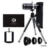 CamKix Kamera Objektiv Kit Kompatibel mit Samsung Galaxy S7 und S7 Edge - beiden Fällen enthalten - inkl.: 12x Teleobjektiv, Fisheye-Objektiv, Makro-Objektiv, Weitwinkel-Objektiv, Stativ,...