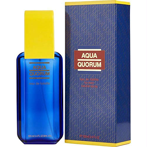 AQUA QUORUM von Antonio Puig für Herren. EAU DE TOILETTE SPRAY 3.4 oz / 100 ml