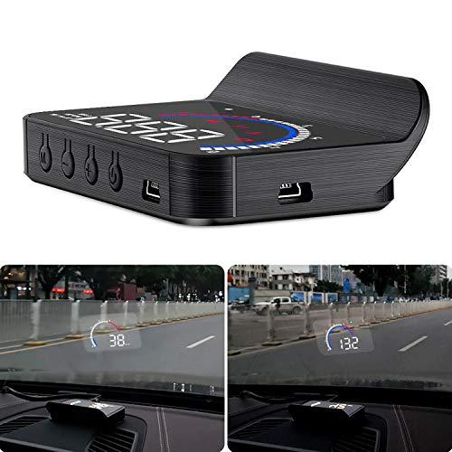 MOLEAQI OBD HUD M13 Nuevo Coche Head-up Display Auto Electronics Hud Parabrisas Proyector Velocidad Temperatura del Agua Pantalla Alarma de Exceso de Velocidad