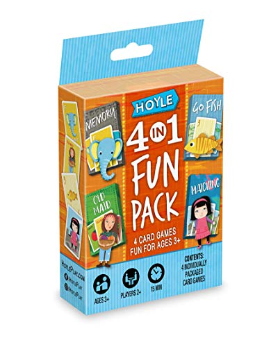 Hoyle 6 in 1 Fun Pack - Kids Card Games