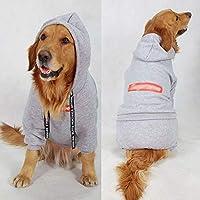 ファッション大型犬ペット服四本足のコート冬パーカー中ビッグ服ropaペロジャケットフレンチブルドッグhondenjas (36,Gray)