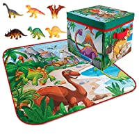 屋外ピクニックマット, 恐竜のおもちゃが付いている折り畳み式の印刷されたゲームパッド、寝室のための多機能の滑り止めの正方形の床のマット