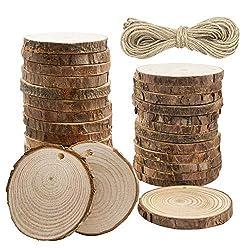 wood slice art ideas ~ wooden discs