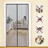 MYCARBON Mosquitera para Puerta Protección Contra Insectos Magnético Mosquitera Puerta Magnetica Corredera Cortina Mosquitera Magnética para Puertas 110 * 220cm