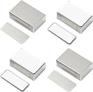 Kastdeurmagneten Zelfklevende Jiayi 4 Pack Magnetische deurvangst Heavy Duty roestvrijstalen kast magnetische vangsten en ...