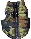 MaruPet Winter Waterproof Windproof Reversible Dog Vest Coat Warm Dog Vest for Cold Weather Dog Down Jacket ONLY for Small Dogs Teddy, Chihuahua, Yorkshire (Not Suitable for Large Dog) Camouflage XS