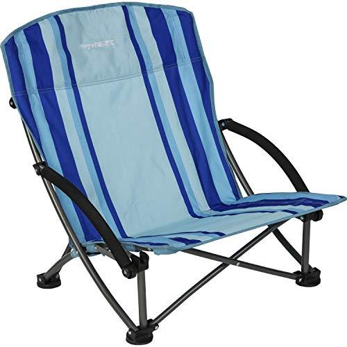 BERGER Beachline Strandstuhl, blau, stabiles Gestänge, Sitzhöhe 15 cm, kleines Packmaß