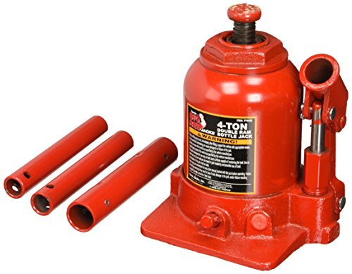 Torin Big Red Hydraulic 2 Stage Double Ram Bottle Jack, 4 Ton Capacity