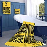jecycleus Danger Quarantine Hotel Selection of Luxury Three-Piece Towels Soft, Durable, Plush and Absorbent Small Three-Piece Towel