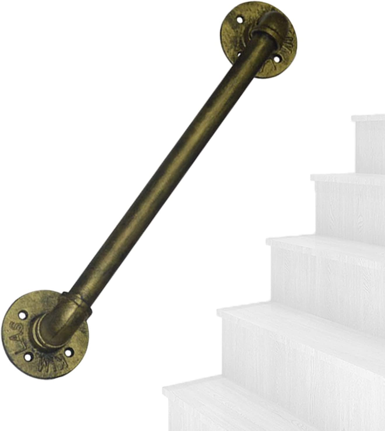 qiaosiye Max 54% OFF Wrought Iron Stair Railing Brackets Fashion with Kit Staircase