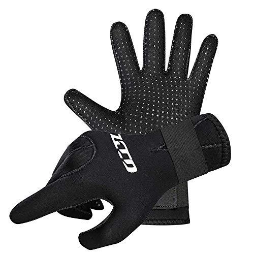 DMDMJY Neoprenhandschuhe Tauchen Handschuhe Neoprenanzug Tauchhandschuhe, 3Mm / 5Mm Flexible Anti Slip Thermal Finger-Surfhandschuh Für Speerfischen Paddling Kajakfahren Schwimmen,5mm,S
